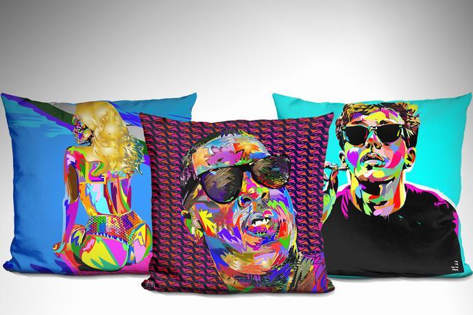 Technodrome1 Throw Pillows