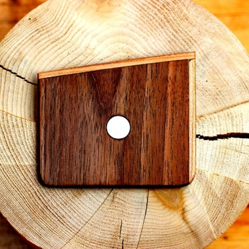 Wooden Pocket Square   Noce   Baffi   Walnut & Cherry Wood
