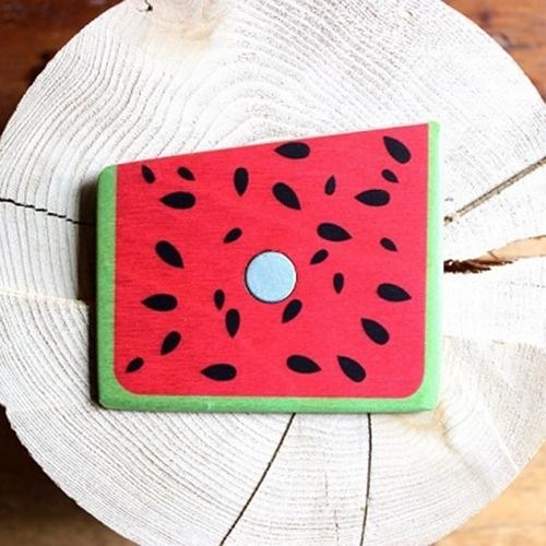 Wooden Pocket Square | Watermelon Wedge | Baffi