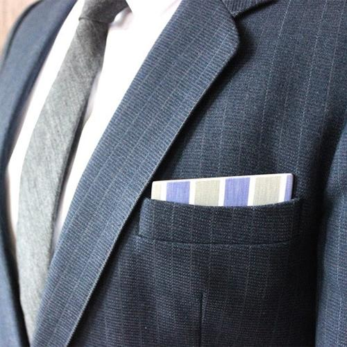 Wooden Pocket Square | Pastelli | Blue Green