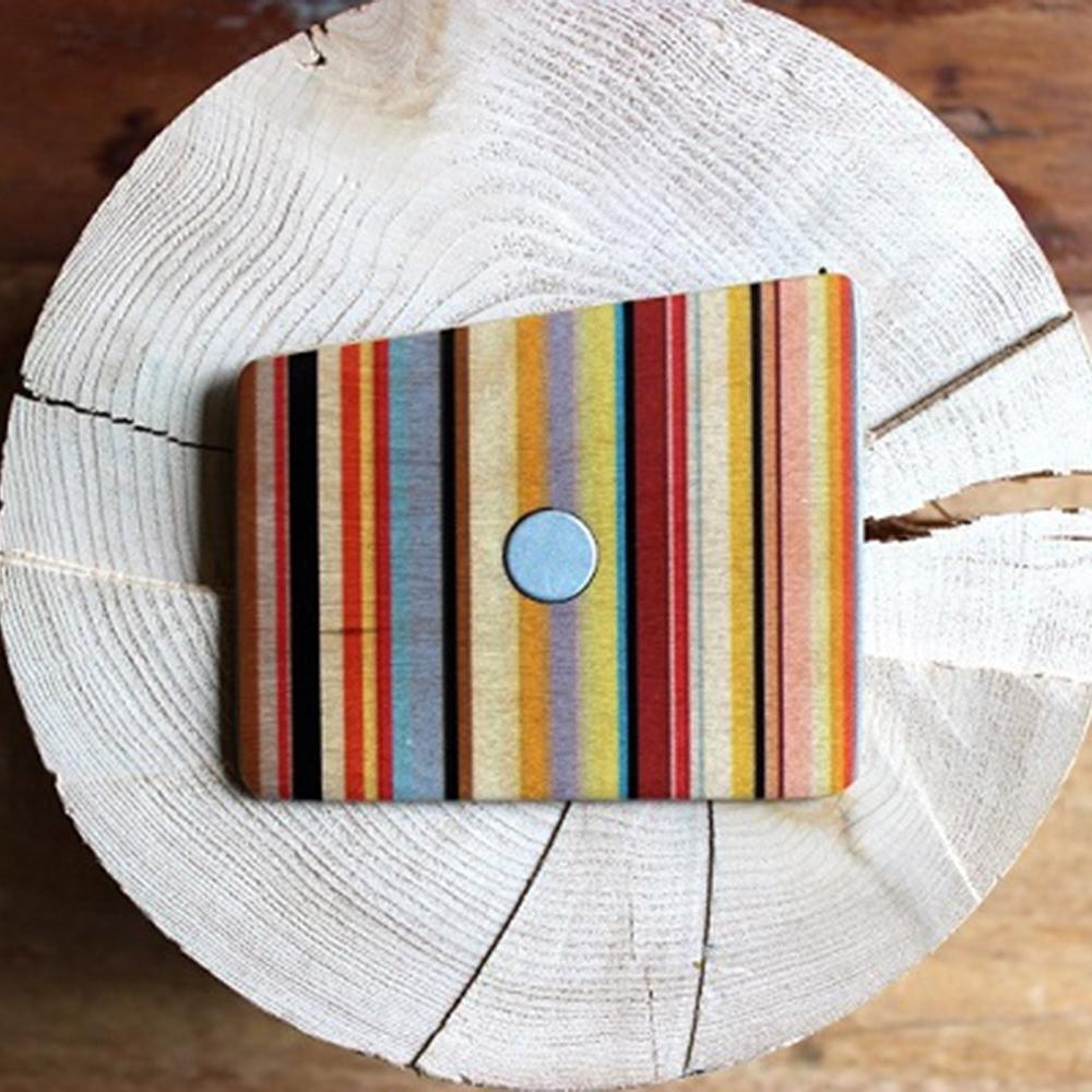 Wooden Pocket Square | Funky Stripes | Baffi | Baltic Birch