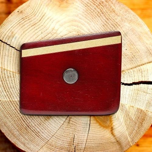 Wooden Pocket Square | Rosewood & Gold | Baffi