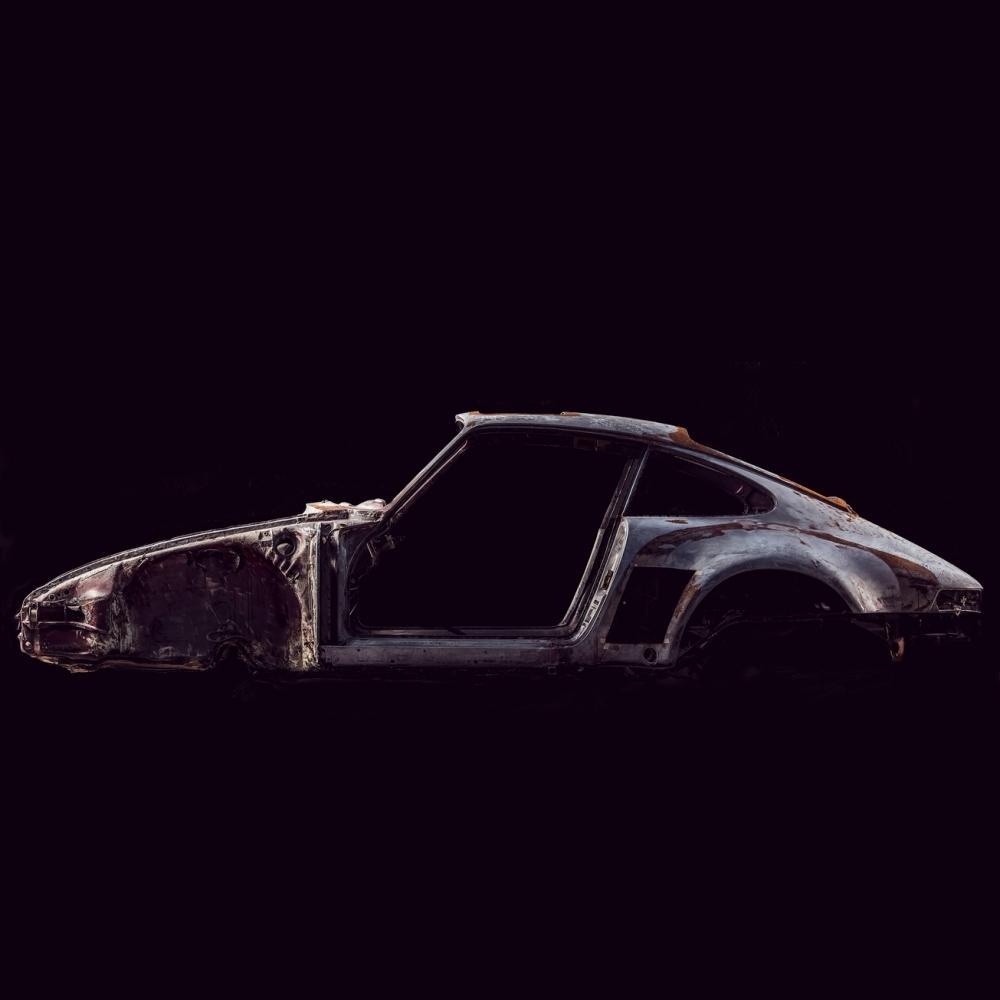 Photograph of deconstructed Porsche   Juan Fernando Ayora