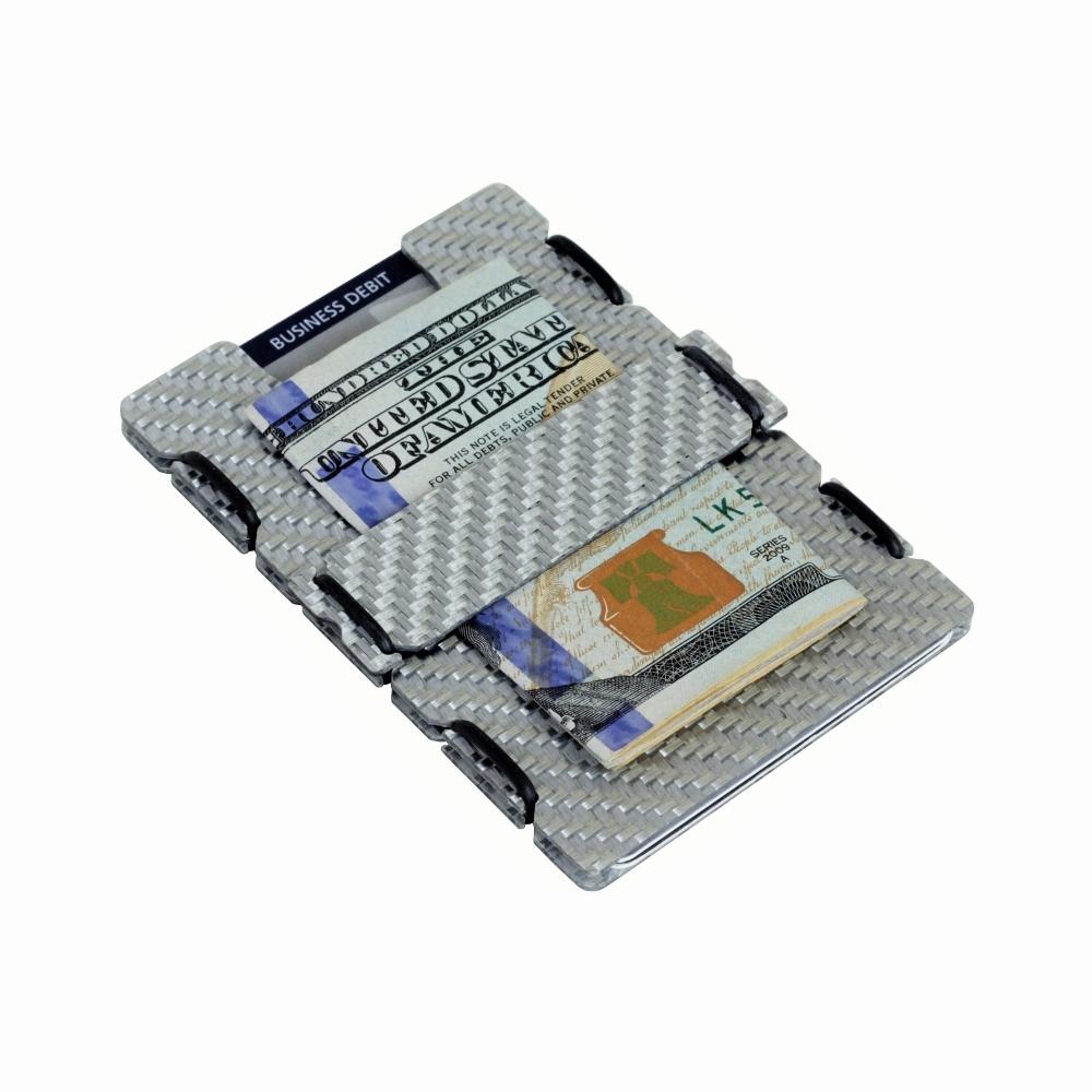 Ultra Carbon Fiber Wallet - Silver, Slimtech
