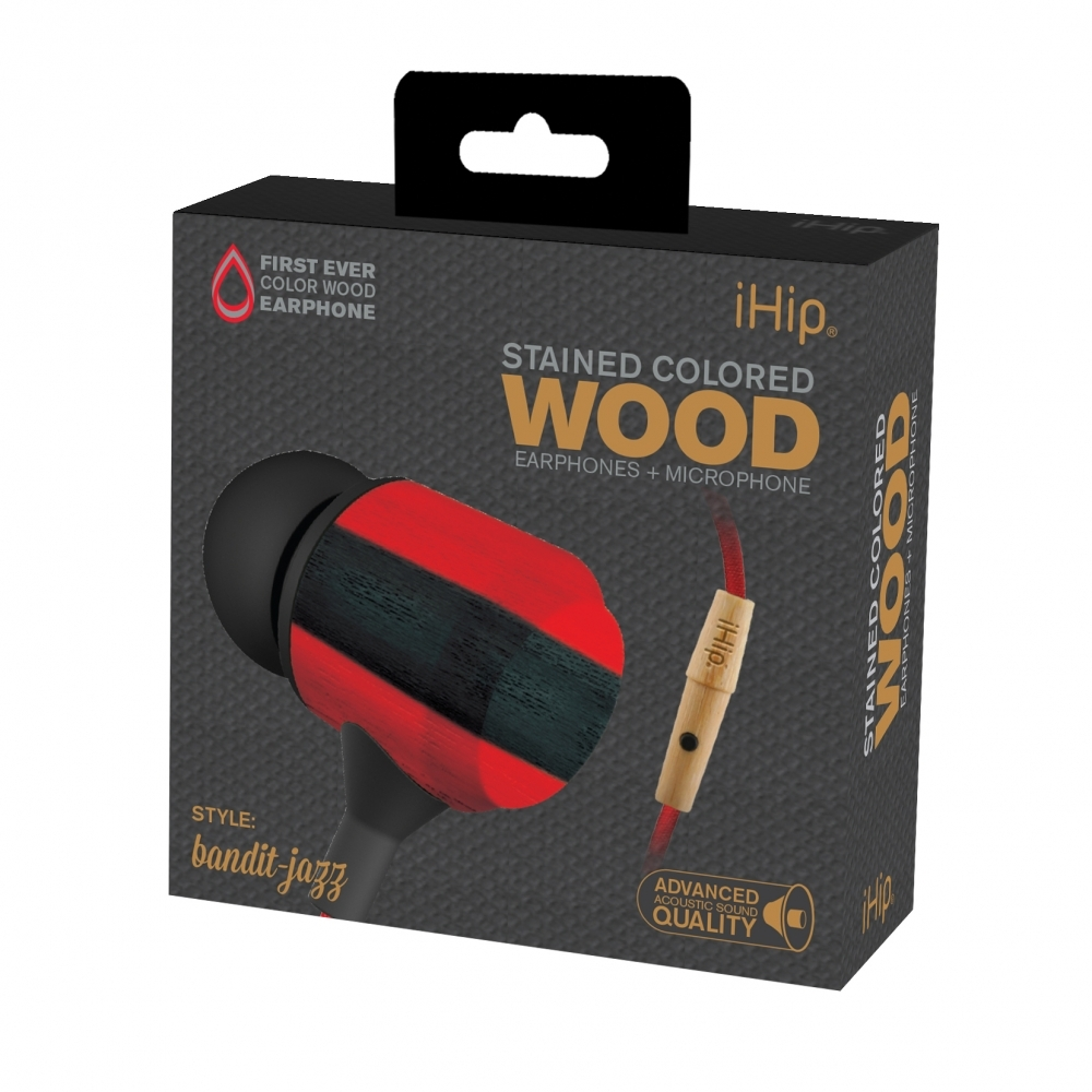 Bandit Jazz Wood Earphone, iHip