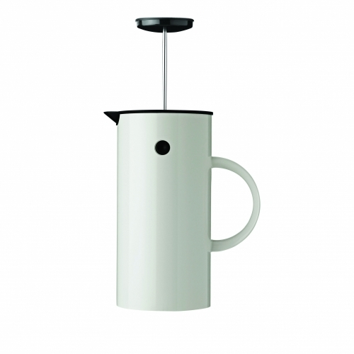 French Coffee Press, White