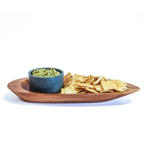 Acacia Chip/Dip Platter, Ellipse, Sparq Home