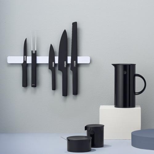 Pure Black Santoku Knife, Stelton