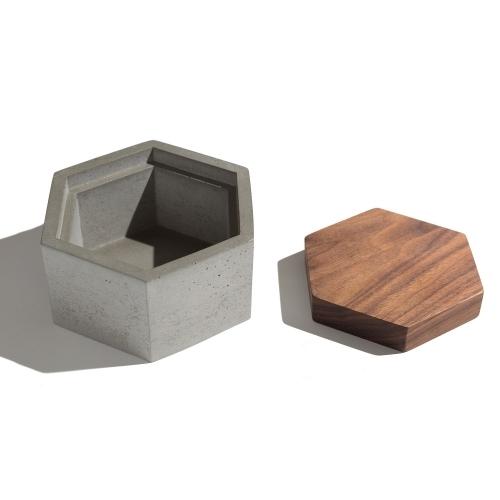 Hexagon Box, White, IN.SEK Design
