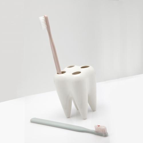 Toothbrush Holder, White, Propaganda
