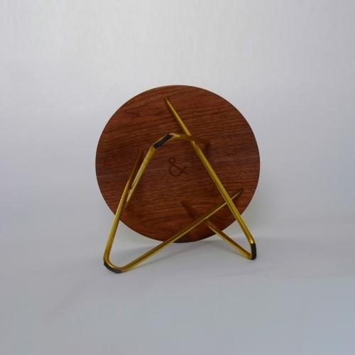 Delta Side Stool, Brass, Ampersand