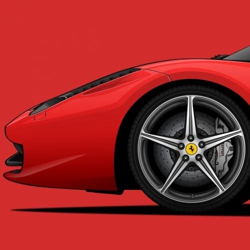 Ferrari 458 Italia Print, Unrivaled