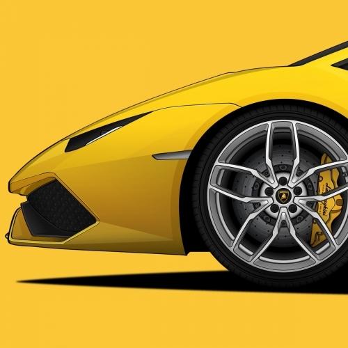 Lamborghini Huracan Print, Unrivaled