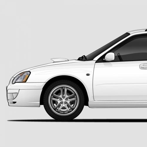 Subaru WRX Wagon/HB Generations Print, Unrivaled