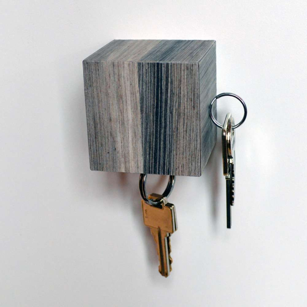 Kube Key Holder, Grey, Tat Chao