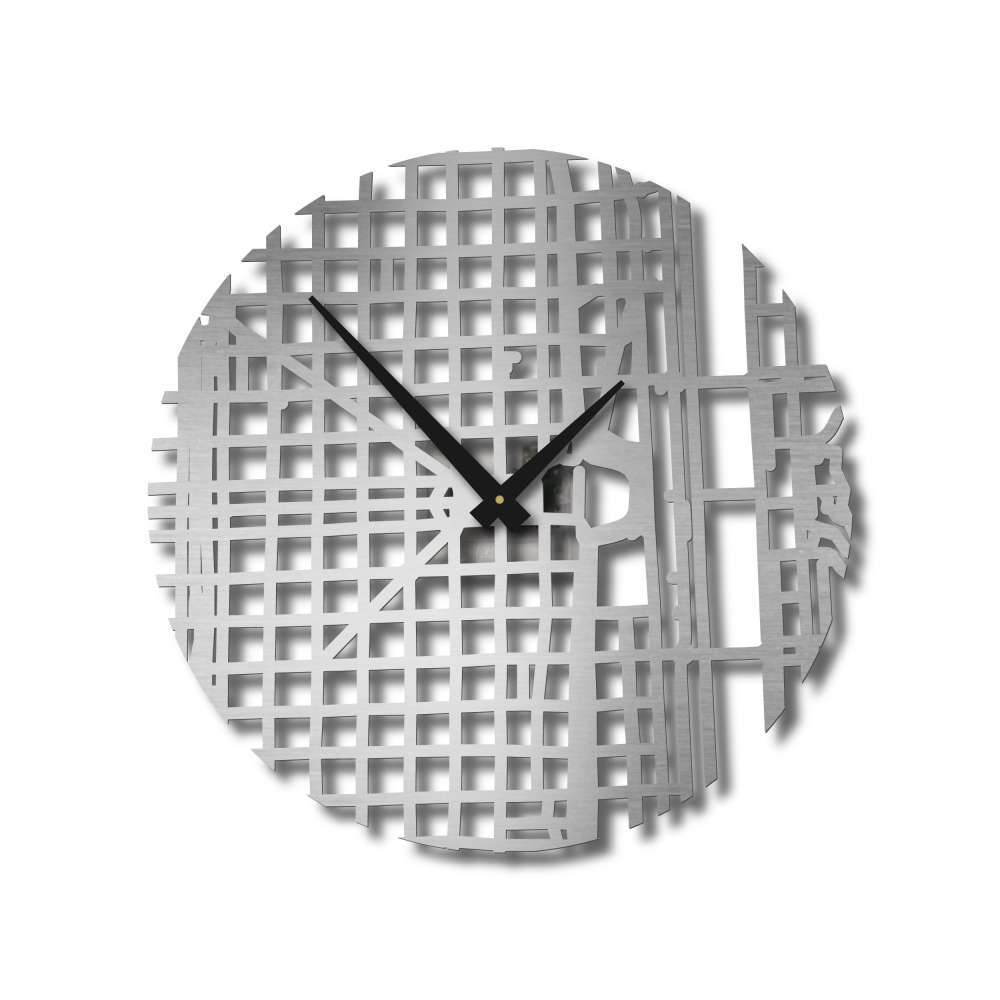 Buenos Aires Clock | Stainless Steel Clocks | Urban Story