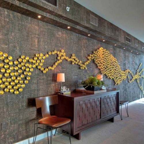 Silver Leaf 'Seed' Wall Play - Contemporary Wall Decoration