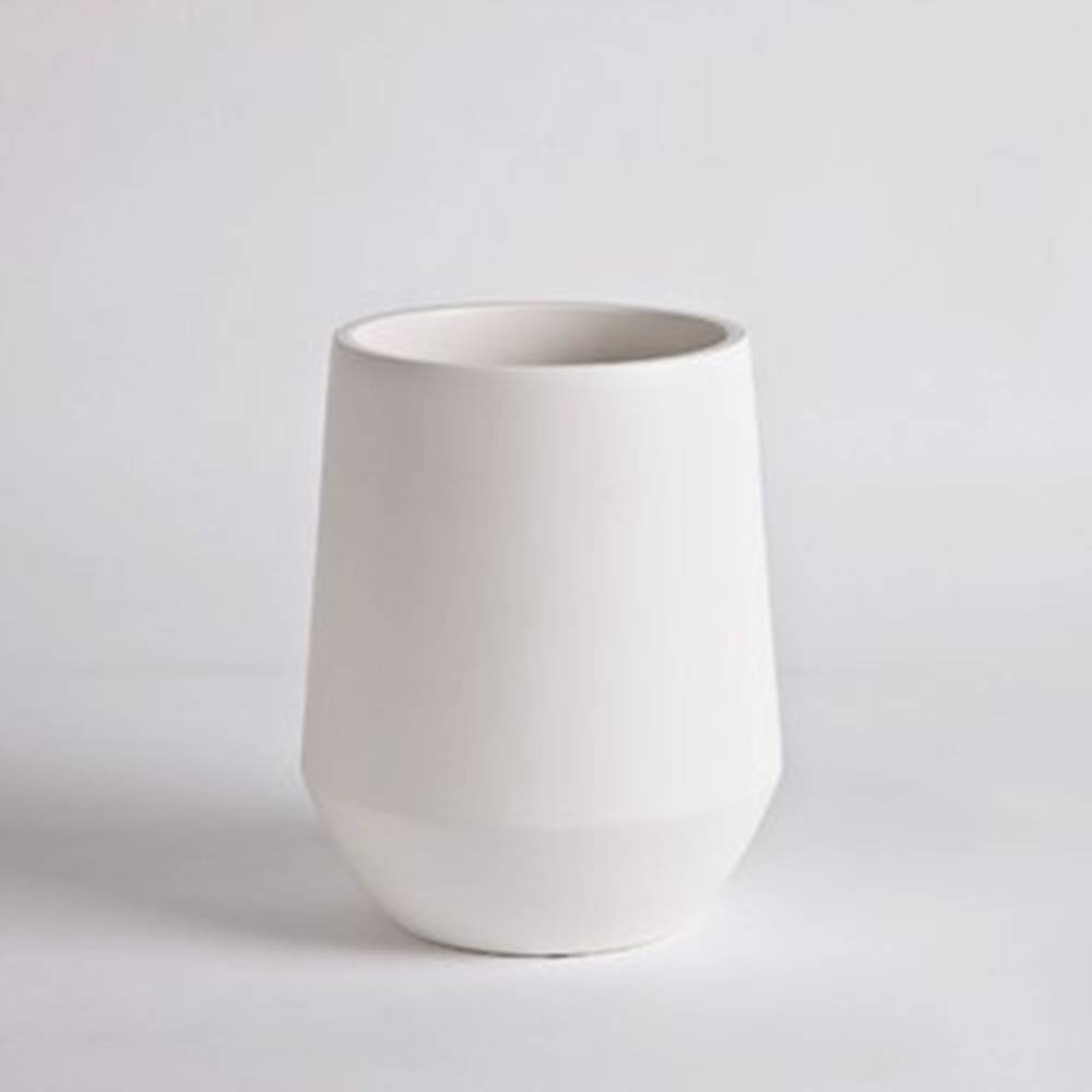 Fusion Vase D16, White - Fine Matte Ceramic Pot