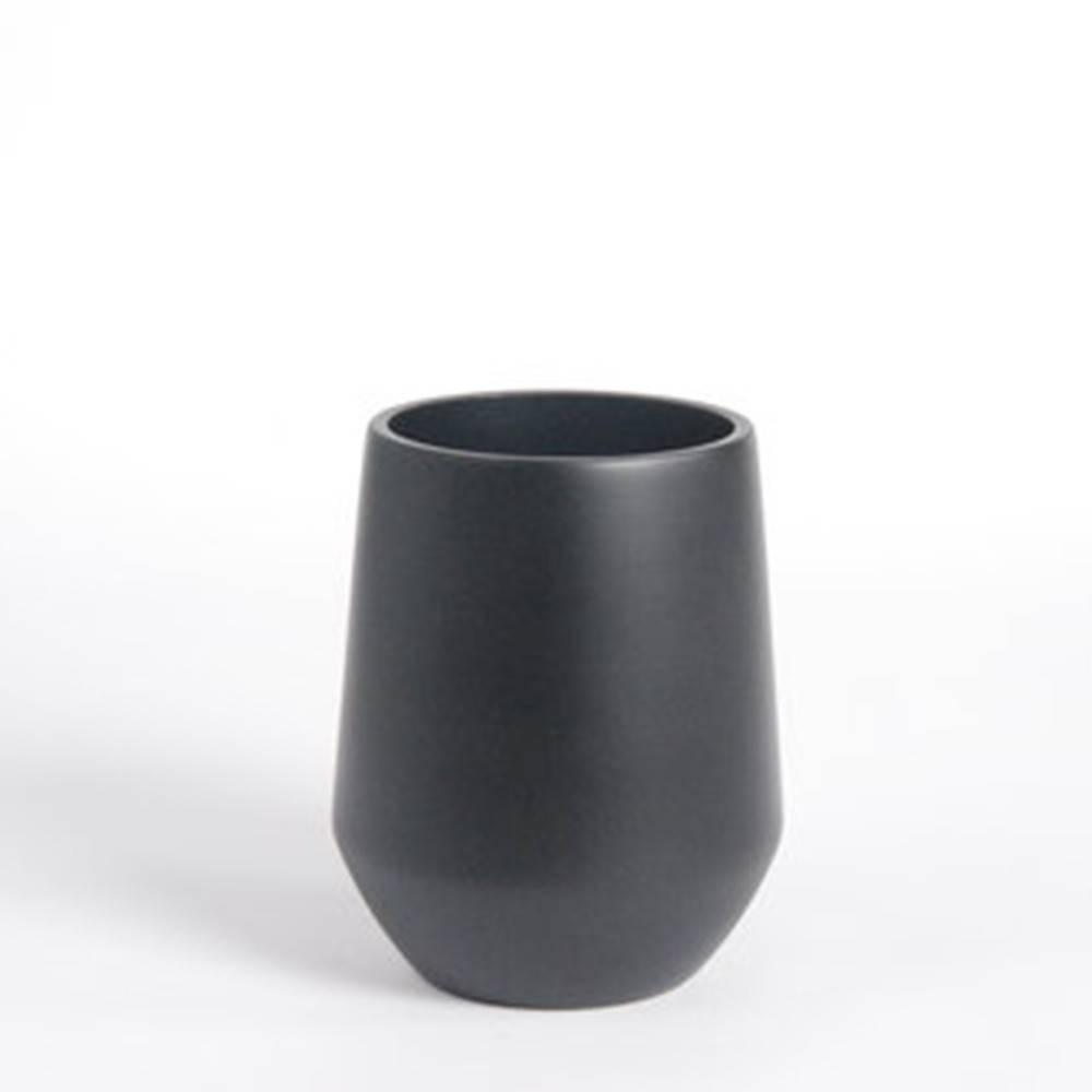 Fusion Vase D16,  Black - Fine Matte Ceramic Pot