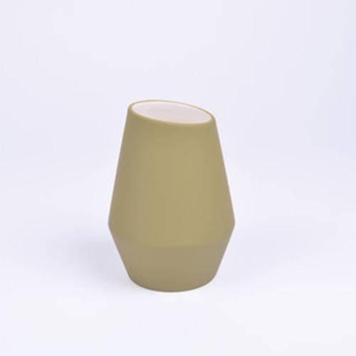 Crooked Vase, Natural Green