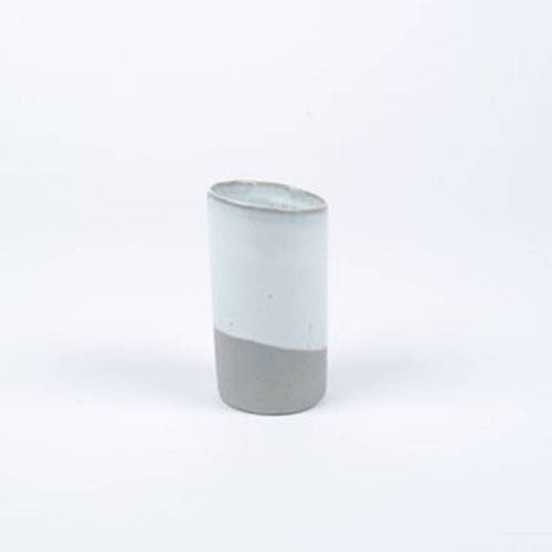 Slant Vase, Grey