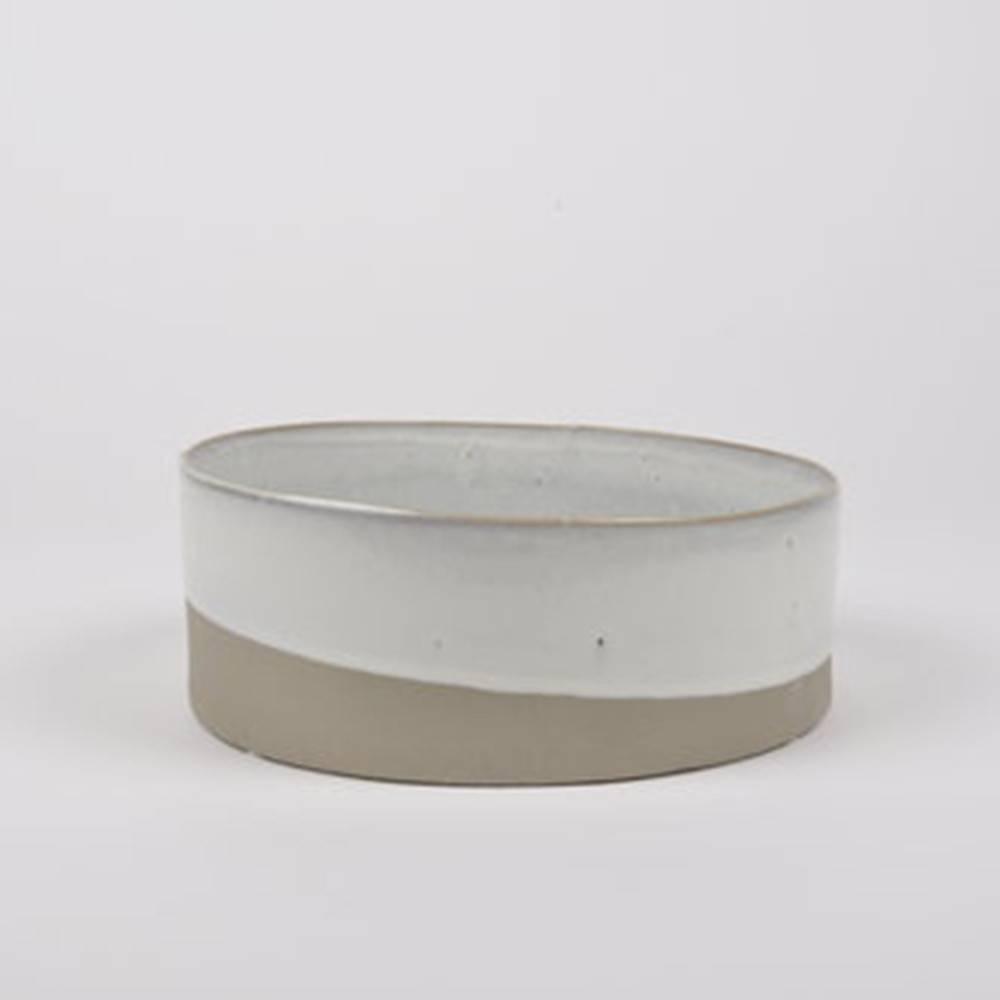 Slant Bowl, Taupe - Classy Ceramic Bowl