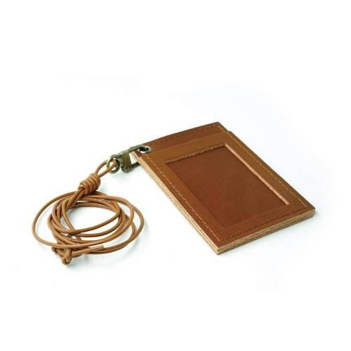 302 ID Cardholder Necklace - Leather Cardholder Necklace