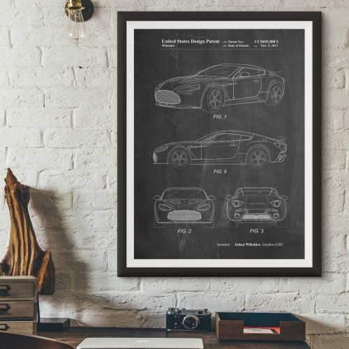 Aston Martin Patent Print