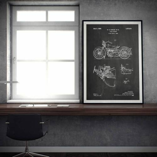 Harley Motorcycle Patent Print