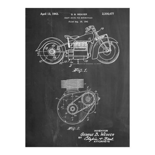 Indian Motorcycle Patent Print - Patent Prints