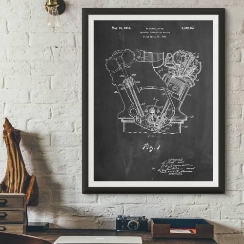Internal Combustion Engine Patent Print