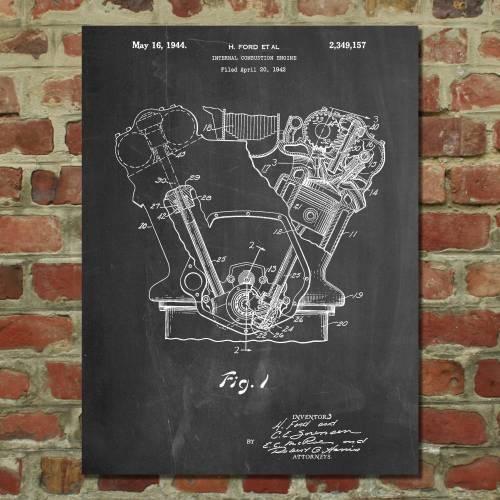 Internal Combustion Engine Patent Print - Patent Prints
