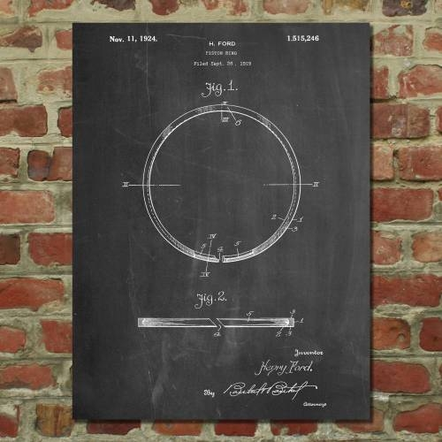 Piston Ring Patent Print - Patent Prints