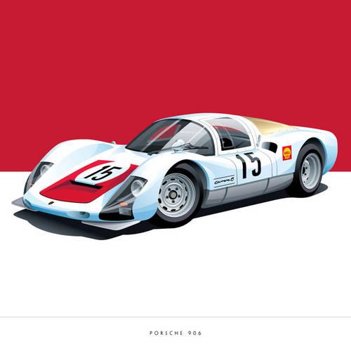 Porsche 906 Art Print