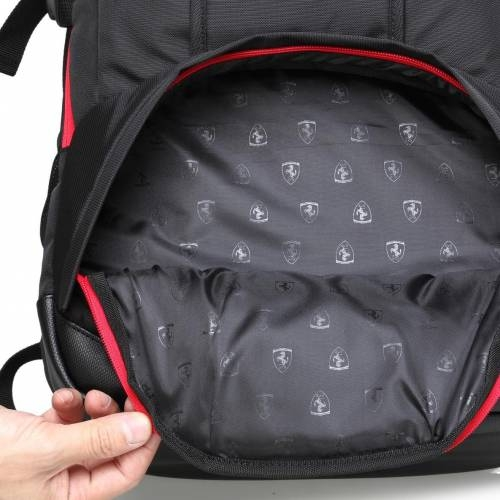Black Travel Backpack - Ferrari