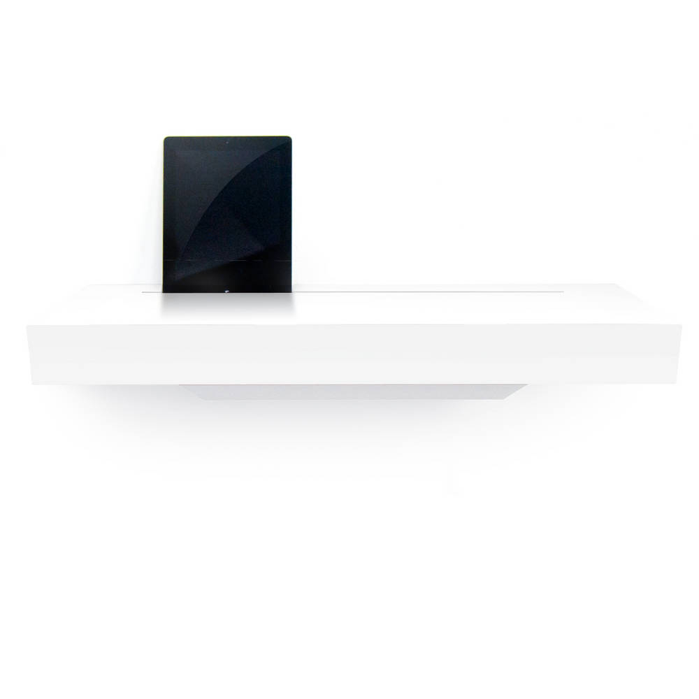 Stage Interactive Shelf White Gloss - An Elegant Meeting Place for all your Re-chargeable Handheld Devices