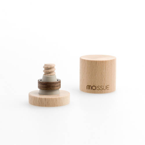 Mono Wide Ring- Wood Skin and Stainless Steel Ring