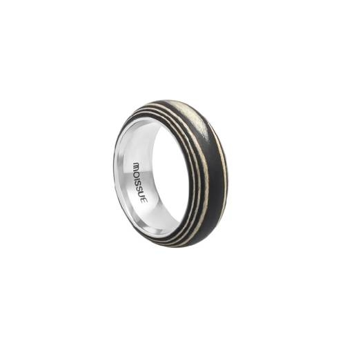 Duo Wide Ebony + Sycamore Ring