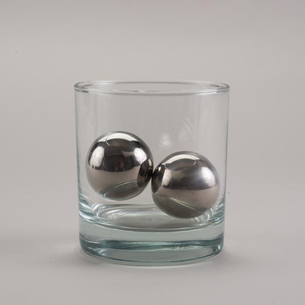 LoBall Whiskey Spheres   Small   Stainless Steel   SipDark
