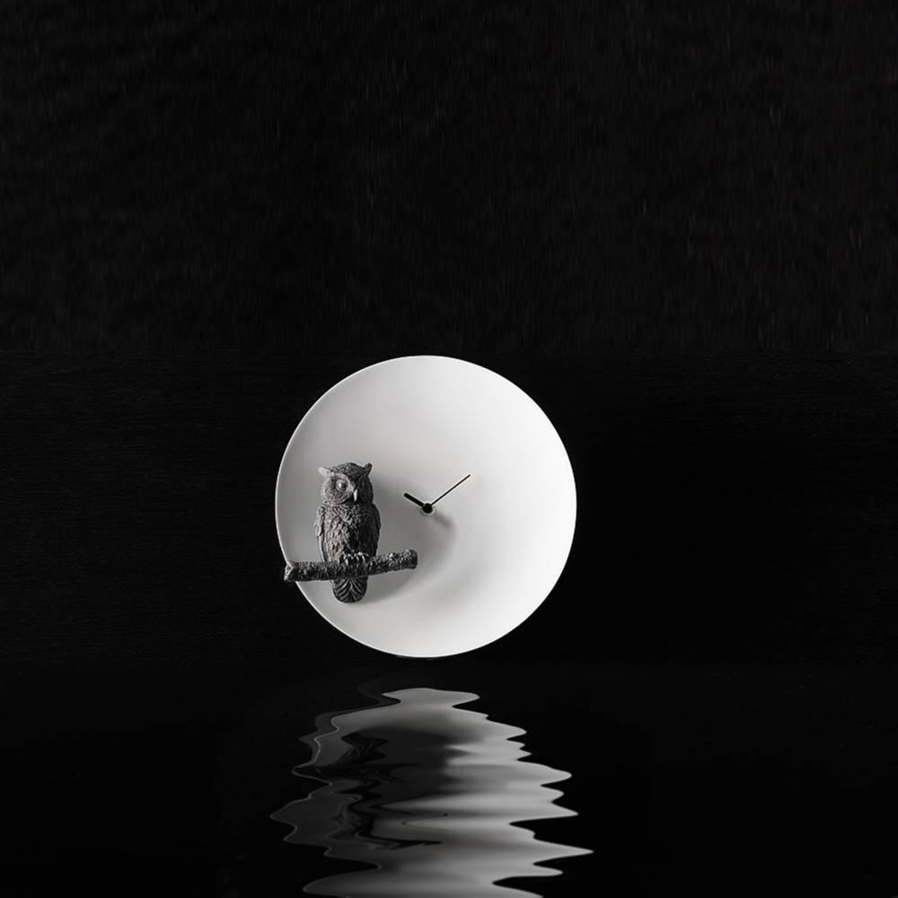 Moon X Owl Clock  - Haoshi Design