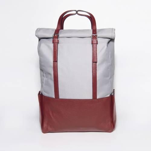 Bordeaux  Leather Backpack   Voyager