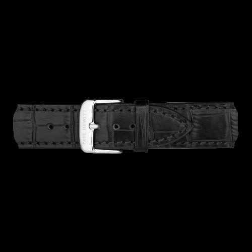 Gold Line Leather Watch, Black - Paul Hewitt