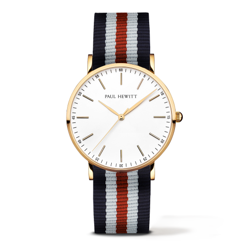 Gold Line Watch, Navy/White/Red II