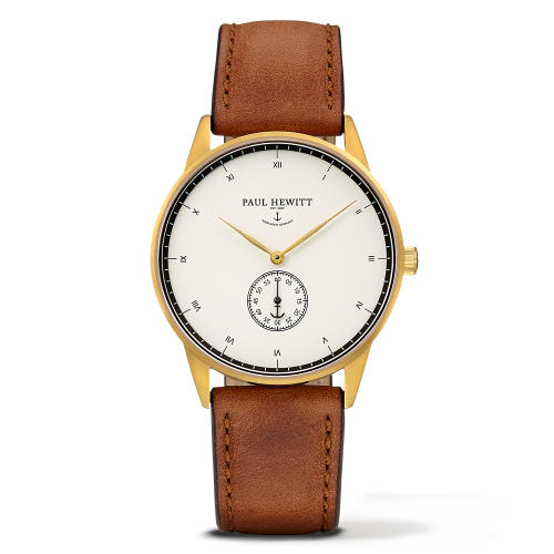 Mark I Leather Watch, White Ocean - Paul Hewitt