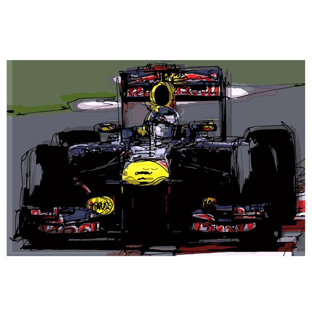 Sebastian Vettel F1 Red Bull Watercolor | By Artist Bilbeisi