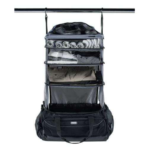 Weekender Duffle Bag with Collapsible Shelves   GREY