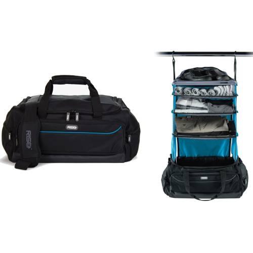 Weekender Duffle Bag, Black/Blue