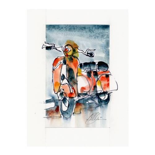 Print | Vespa Scooter