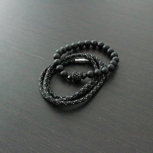Vallour Bracelet Black Spike Set