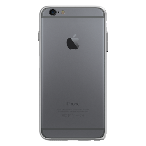 Slim Aerospace Aluminum Bumper for iPhone 6s, Silver